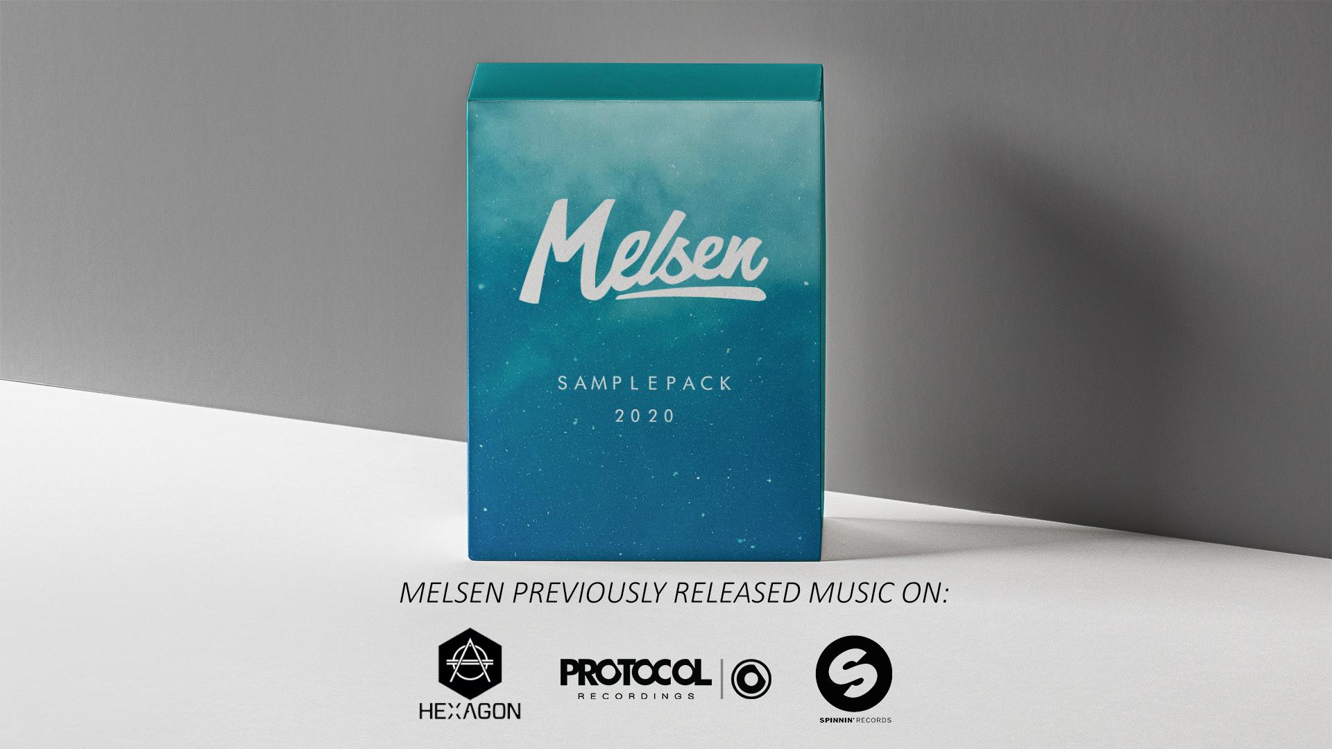 Melsen Sample Pack 2020 - mockup 1920 1080 met label logos